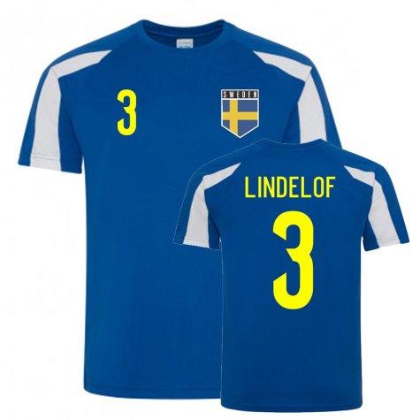 Victor Lindelof Sweden Sports Training Jersey (Blue-White)
