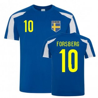 Emil Forsberg Sweden Sports Training Jersey (Blue-White)