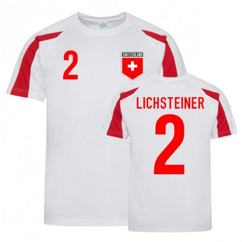 Stephan Lichsteiner Switzerland Sports Training Jersey (White-Red)