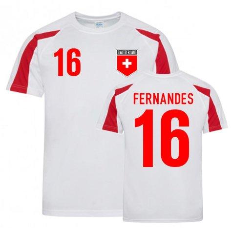 Gelson Fernandes Switzerland Sports Training Jersey (White-Red)