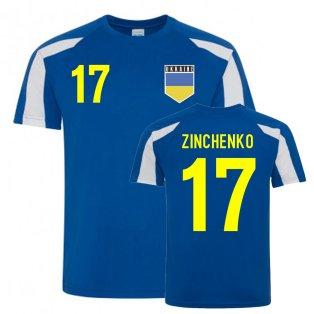 Oleksandr Zinchenko Ukraine Sports Training Jersey (Blue)