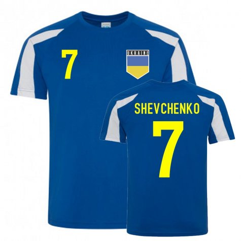 Andriy Shevchenko Ukraine Sports Training Jersey (Blue)