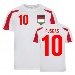 Ferenc Puskas Hungary Sports Training Jersey (White-Red)