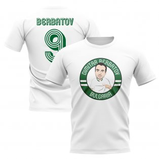 Dimitar Berbatov Bulgaria Illustration T-Shirt (White)