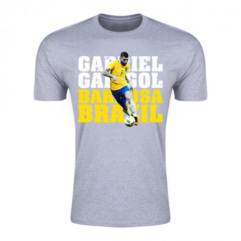 Gabriel Gabigol Barbosa Brazil T-Shirt (Grey) - Kids