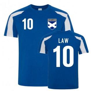Dennis Law Scotland Sports Training Jersey (Blue)
