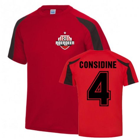 Andrew Considine Aberdeen Sports Training Jersey (Red)