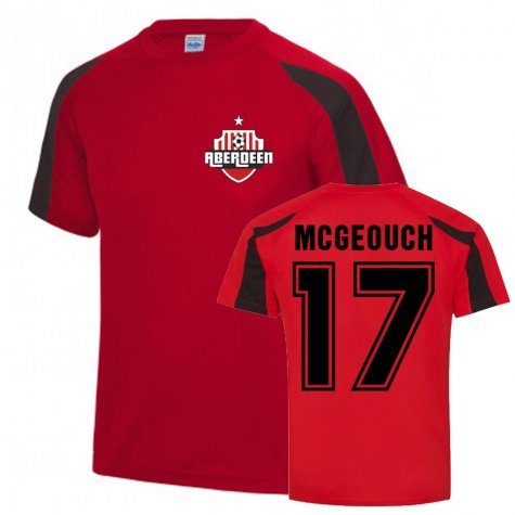 Dylan McGeouch Aberdeen Sports Training Jersey (Red)