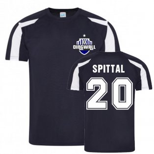 Blair Spittal Ross County Sports Training Jersey (Navy)