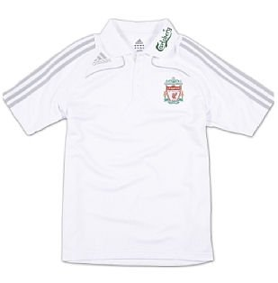 08-09 Liverpool Polo Shirt (white) - Kids