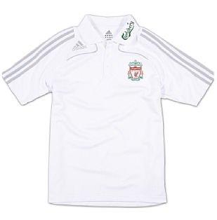 08-09 Liverpool Polo Shirt (white) - Kids