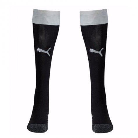 2017-2018 Newcastle Home Football Socks (Black) - Kids