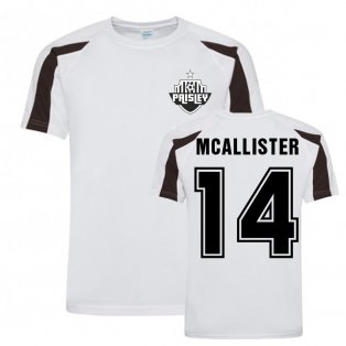 Kyle McAllister St Mirren Sports Training Jersey (White)