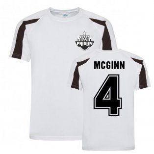 Stephen McGinn St Mirren Sports Training Jersey (White)
