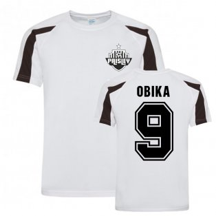 Jonathan Obika St MIrren Sports Training Jersey (White)