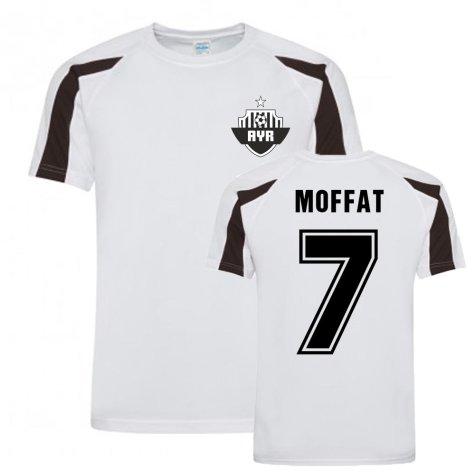Michael Moffat Ayr United Sports Training Jersey-(White)