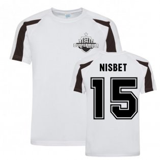 Kevin Nisbet Dunfermline Sports Training Jersey (White)