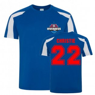 Ryan Christie Inverness Caledonian Thistle Sports Training Jersey (Blue)