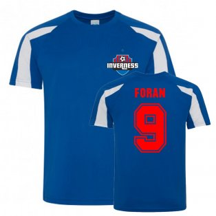 Richie Foran Inverness Caledonian Thistle Sports Training Jersey (Blue)