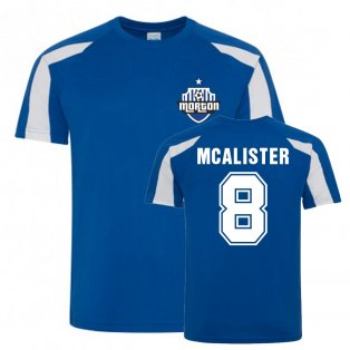 Jim McAlister Greenock Morton Sports Training Jersey (Blue)