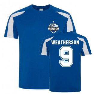 Peter Weatherson Greenock Morton Sports Training Jersey (Blue)