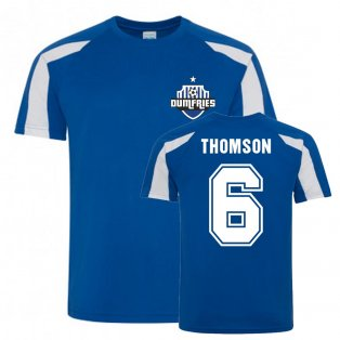 Jim Thomson Queen Of The South Sports Training Jersey (Blue)