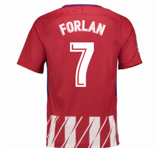 2017-2018 Atletico Madrid Home Shirt (Forlan 7) - Kids