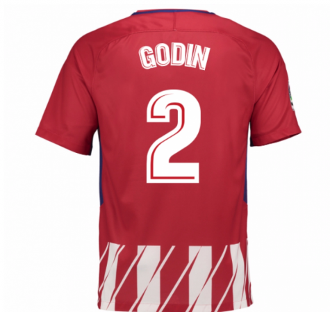 2017-2018 Atletico Madrid Home Shirt (Godin 2) - Kids