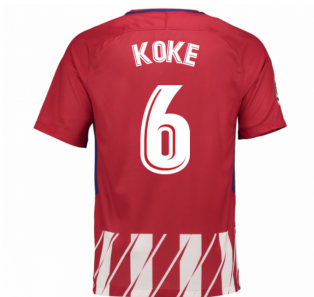 2017-2018 Atletico Madrid Home Shirt (Koke 6) - Kids