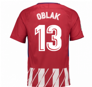 2017-2018 Atletico Madrid Home Shirt (Oblak 13) - Kids