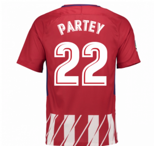 2017-2018 Atletico Madrid Home Shirt (Partey 22) - Kids