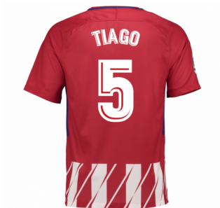 2017-2018 Atletico Madrid Home Shirt (Tiago 5) - Kids