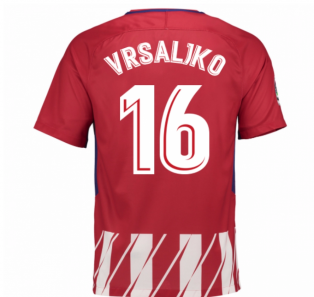 2017-2018 Atletico Madrid Home Shirt (Vrsaljko 16) - Kids