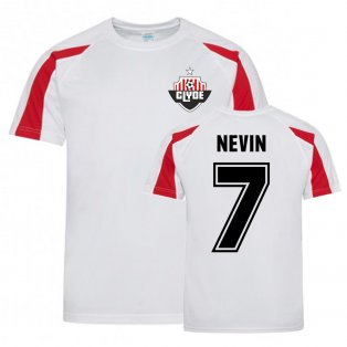 Pat Nevin Clyde Sports Training Jersey (White)