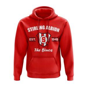 Stirling Albion Established Hoody (Red)