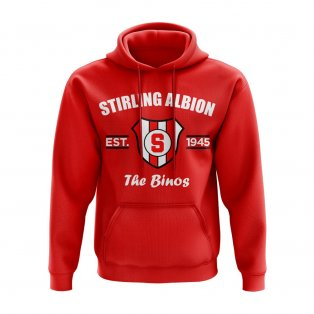 Stirling Albion Established Hoody (Red)