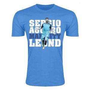 Sergio Aguero Man City Legend T-Shirt (Sky Blue)