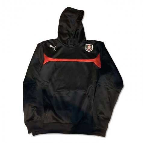 2014-2015 Airdrieonians Puma Hooded Top (Black)