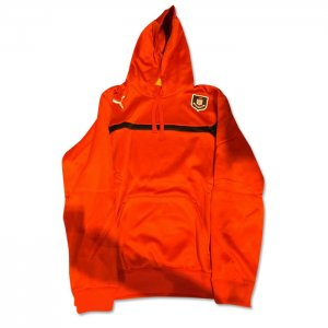 2014-2015 Airdrieonians Puma Hooded Top (Red) - Kids