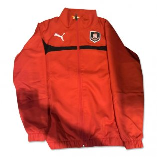 2014-2015 Airdrieonians Puma Wet Jacket (Red)