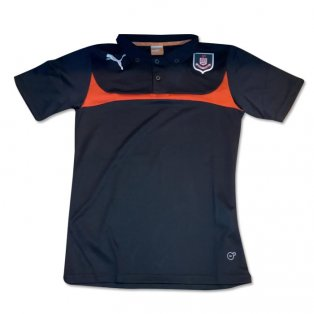 2014-2015 Airdrieonians Puma Polo Shirt (Black-Red)