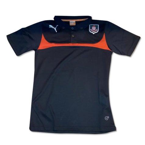 2014-2015 Airdrieonians Puma Polo Shirt (Black-Red) - Kids
