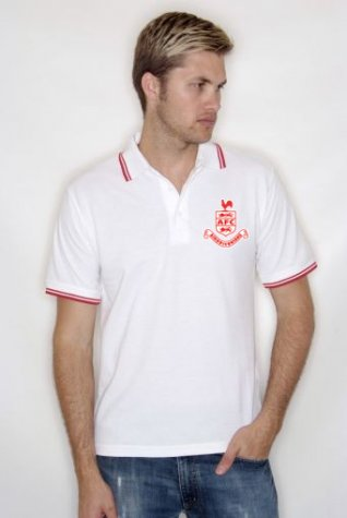 Airdrieonians Official Polo Shirt (White) - Kids