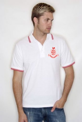 Airdrieonians Official Polo Shirt (White)
