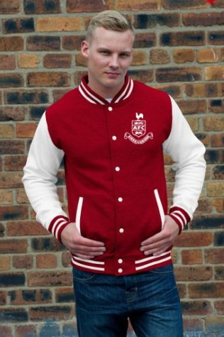 Airdrieonians Official Baseball Jacket (Red) [] - Uksoccershop