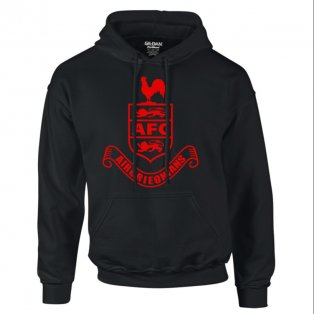 Airdrie Core Hooded Top (Black) - Kids