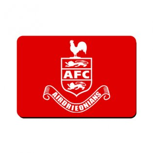 Airdrieonians Official Mouse Mat (Red)