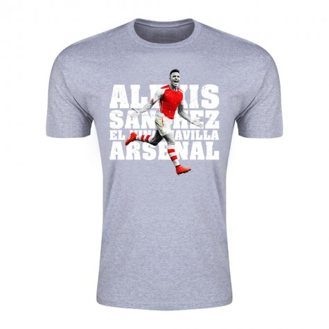 Alexis Sanchez Arsenal El Nino Maravilla T-Shirt (Grey)