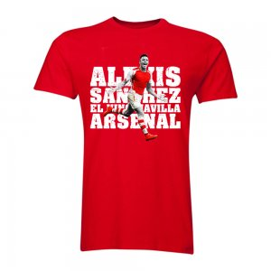 Alexis Sanchez Arsenal El Nino Maravilla T-Shirt (Red) - Kids