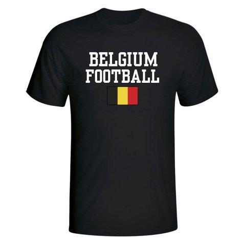 Belgium Football T-Shirt - Black